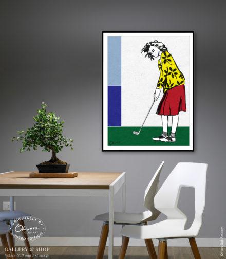 Las-Simples-Cosas-Enterier-Female-Golfer